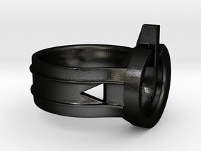 Power Ring Size 13 in Matte Black Steel