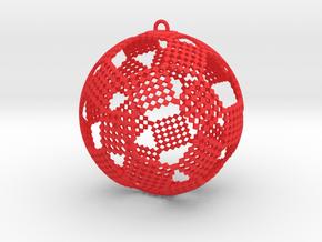 Checkers Ornament in Red Processed Versatile Plastic