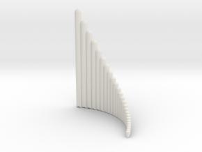 Right-handed Jazz Ballad Wholetone Panpipe 4 octav in White Natural Versatile Plastic