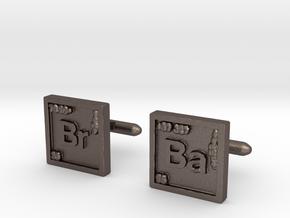 Breaking Bad: Cufflinks in Polished Bronzed Silver Steel
