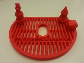 NESCAFE Dolce Gusto MiniMe Festive drip tray in Red Processed Versatile Plastic