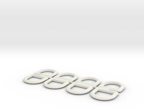 HD D-Rings in White Natural Versatile Plastic