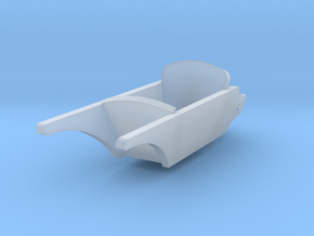 1/56th (28mm) scale wheelbarrow in Smooth Fine Detail Plastic