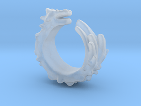 Dragon Ring  in Smooth Fine Detail Plastic