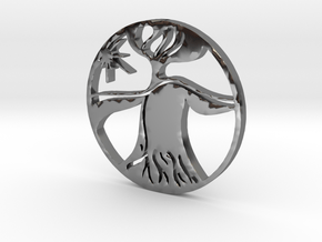 mother nature in Fine Detail Polished Silver