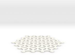 Flower Of Life 141125 in White Processed Versatile Plastic