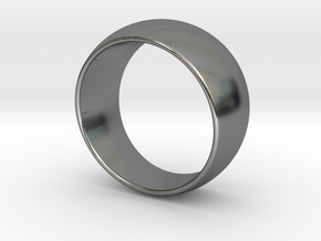 Pinball Ring - Size 13 (22.2mm ID) in Polished Silver