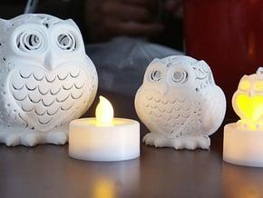Stelliform Owl Small Size in White Processed Versatile Plastic