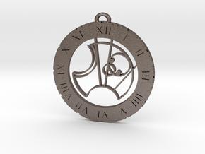 Scott - Pendant in Polished Bronzed Silver Steel