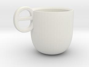Espresso Cup in White Natural Versatile Plastic