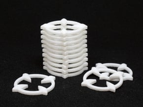 Crosshair Tokens (x12) in White Natural Versatile Plastic