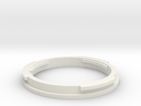EFMount Adapter For Minolta SR lenses in White Natural Versatile Plastic