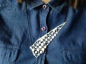 'Romantic Stalk' Necklace in White Natural Versatile Plastic