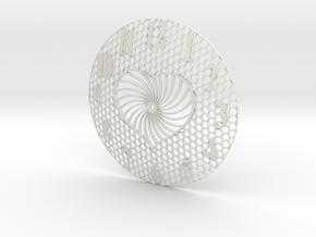 Honey Heart Clock Face in White Natural Versatile Plastic