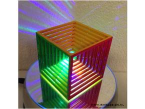 Impossible Cube 6cm in White Natural Versatile Plastic