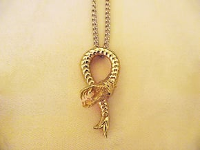 Viper Fish Pendant  in Polished Brass