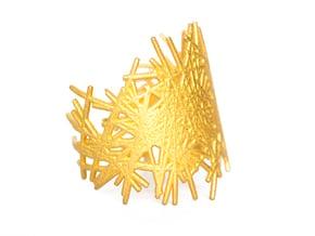 LINES BRACELET size M in Polished Gold Steel