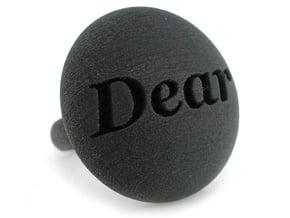 S46 Ellipse Ring Dear @ 30 mm in Black Natural Versatile Plastic