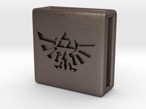 Band Charm - Zelda in Polished Bronzed Silver Steel