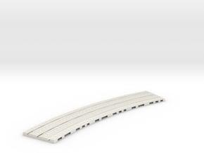 P-165-32st-tram-inner-long-curve-100-1a in White Natural Versatile Plastic