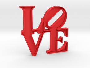 The Love Sculpture 15cm  in Red Processed Versatile Plastic