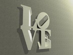 The Love Sculpture Wall decoration 18cm in White Natural Versatile Plastic