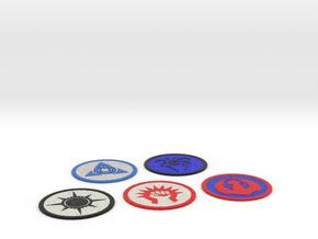 Ravnica Coasters 1 in Full Color Sandstone