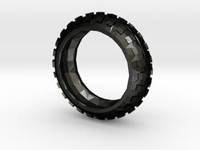Motorcycle/Dirt Bike/Scrambler Tire Ring Size 10 in Matte Black Steel
