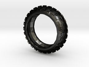 Motorcycle/Dirt Bike/Scrambler Tire Ring Size 9 in Matte Black Steel