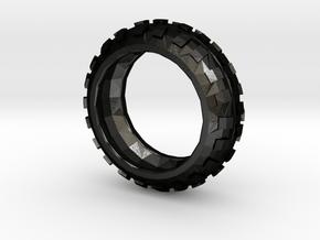 Motorcycle/Dirt Bike/Scrambler Tire Ring Size 7 in Matte Black Steel