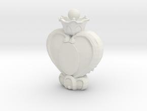 Sailor Moon Spiral Heart Wand pt1 in White Natural Versatile Plastic