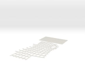 Spider-Man Left Arm-1 Webbing (fits kenlandrum pri in White Natural Versatile Plastic