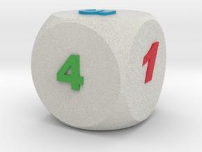 Multi-coloured Dice v1.0 in Full Color Sandstone