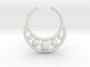 Faux Septum Ring - peapod in White Natural Versatile Plastic