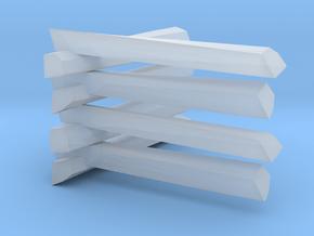 Split Rail Fence   in Smooth Fine Detail Plastic