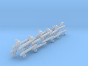 2 Rail A Frame Fence in Smooth Fine Detail Plastic