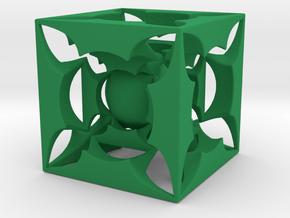 Fractal 3D HT5 in Green Processed Versatile Plastic