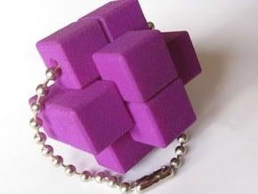 QBurr Keychain Puzzle in Purple Processed Versatile Plastic