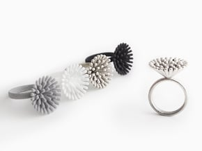 Spike Ring - US 6 size in Polished Nickel Steel