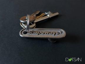 Shapeways Personalized Bottle Opener in Polished Bronzed Silver Steel