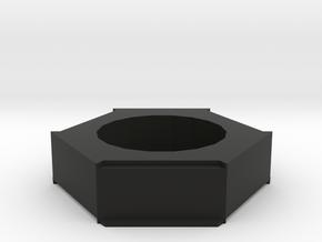 Candle Holder - Hive Serries in Black Natural Versatile Plastic