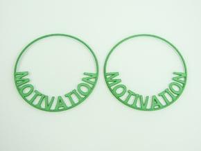 Custom Hoop Earrings - Motivation 60mm in Green Processed Versatile Plastic