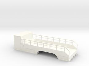 1/64th S Scale Tire Service Truck Tandem Body in White Processed Versatile Plastic