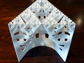 Developing Sierpinski arrowhead curve (Large) in White Natural Versatile Plastic