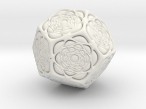 Christmas tree Ornament #15 in White Natural Versatile Plastic