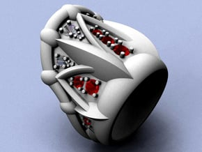 Neptune Ring - Size 12 (21.49 mm) in Natural Silver