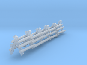 3 Rail A Frame Fence in Smooth Fine Detail Plastic