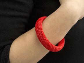 Medium Size - Textile Bracelet in Red Processed Versatile Plastic