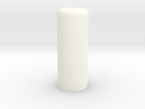 Plug 87-2 Elongated in White Processed Versatile Plastic