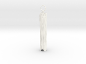Edge Keyring in White Processed Versatile Plastic